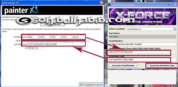 cara install corel painter x3 dengan key