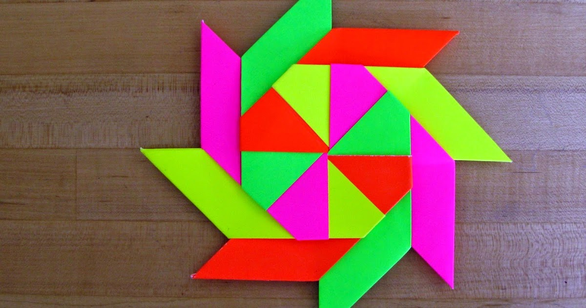 8 Pointed Origami Throwing Star Simple Origami For Kids