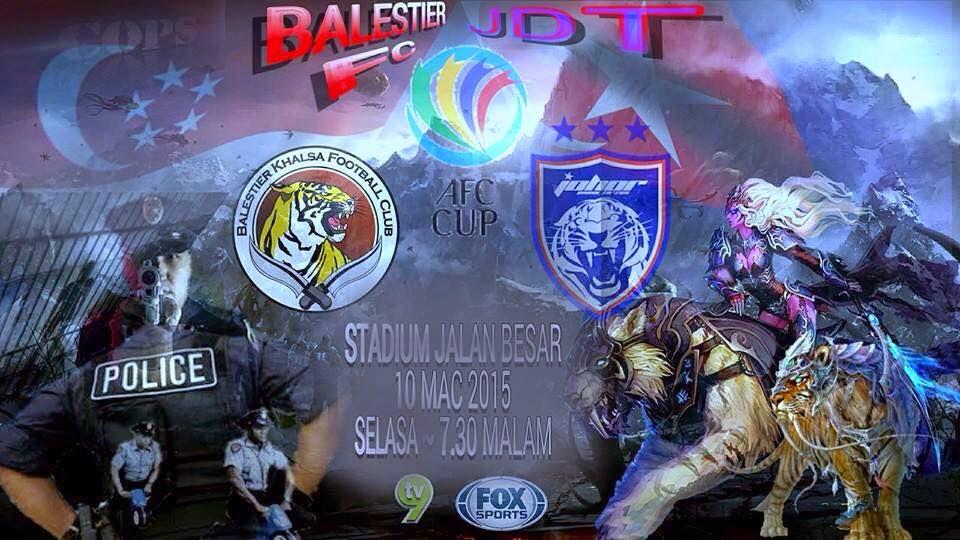 JDT Vs Balestier Khalsa AFC Cup 10 Mac 2015