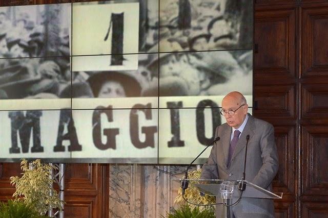 FESTA DEL LAVORO - DISCORSO DEL PRESIDENTE NAPOLITANO