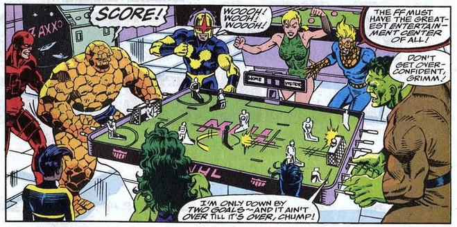 Fantastic Four 368 foosball Thing Hulk