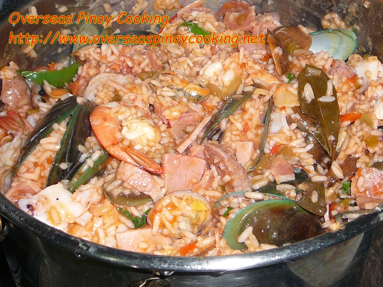Pinoy Seafood Jambalaya - Cooking Procedure