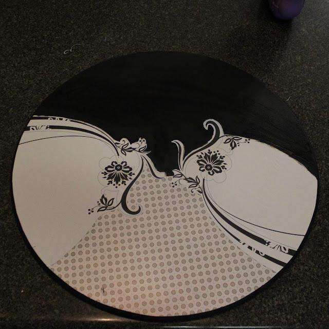 how to make a clock, mod podge, mixed media art