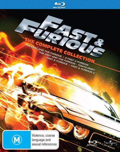 fast and furious complete collection 1 5 the fast and the furious