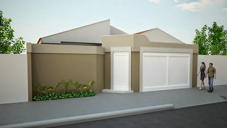 20 fachadas de casas modernas com muros e port es for Aberturas para casas modernas