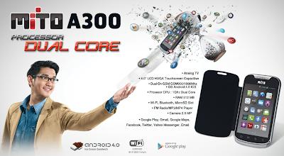 Mito A300 Smartphone Murah Prosesor Dual Core OS Android Terbaru