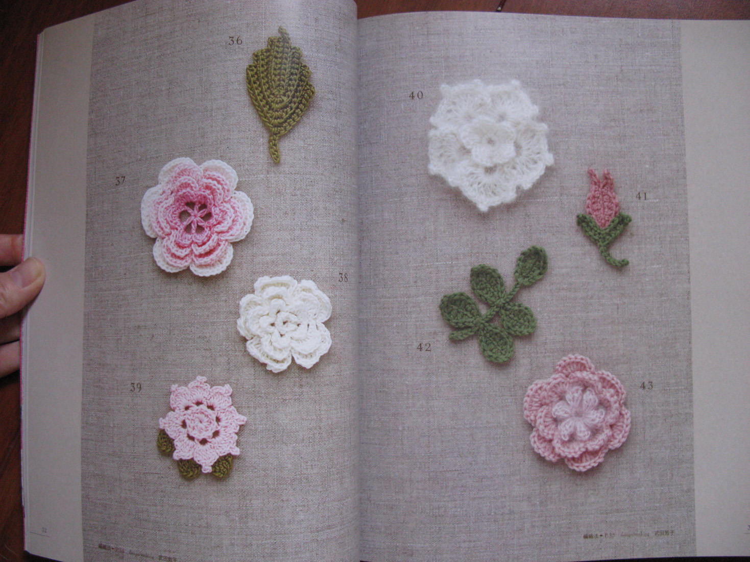 Crochet Pattern Books : ... with Waiyi: Crochet Rose Pattern 100 Japanese Crochet Patterns Book
