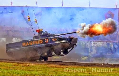 Kemampuan Tempur Tank Amfibi BMP-3F Disegani di Dunia