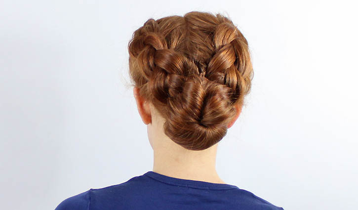 hair style: braided bun tutorial make handmade, crochet, craft