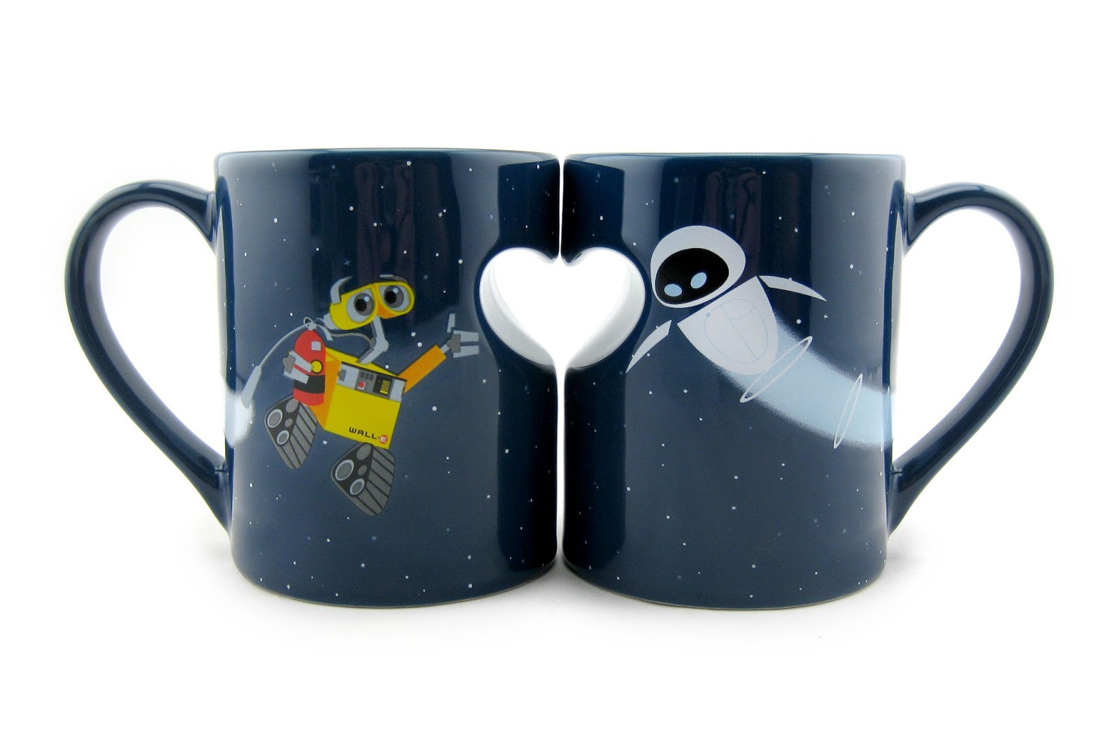 Dan the pixar fan wall e eve wall e mug set - Walle and eve mugs ...