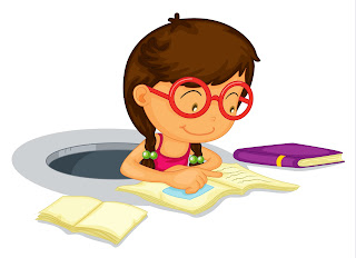 nerd girl with glasses
