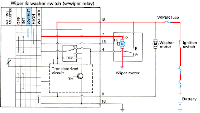 Wiring Diagram Cara Kerja Wiper Low Speed