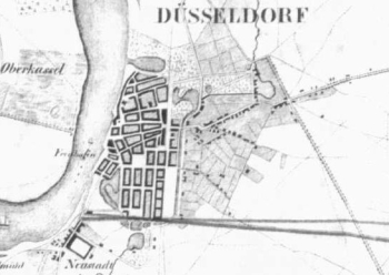 Situations-Plan 1837, Düsseldorf