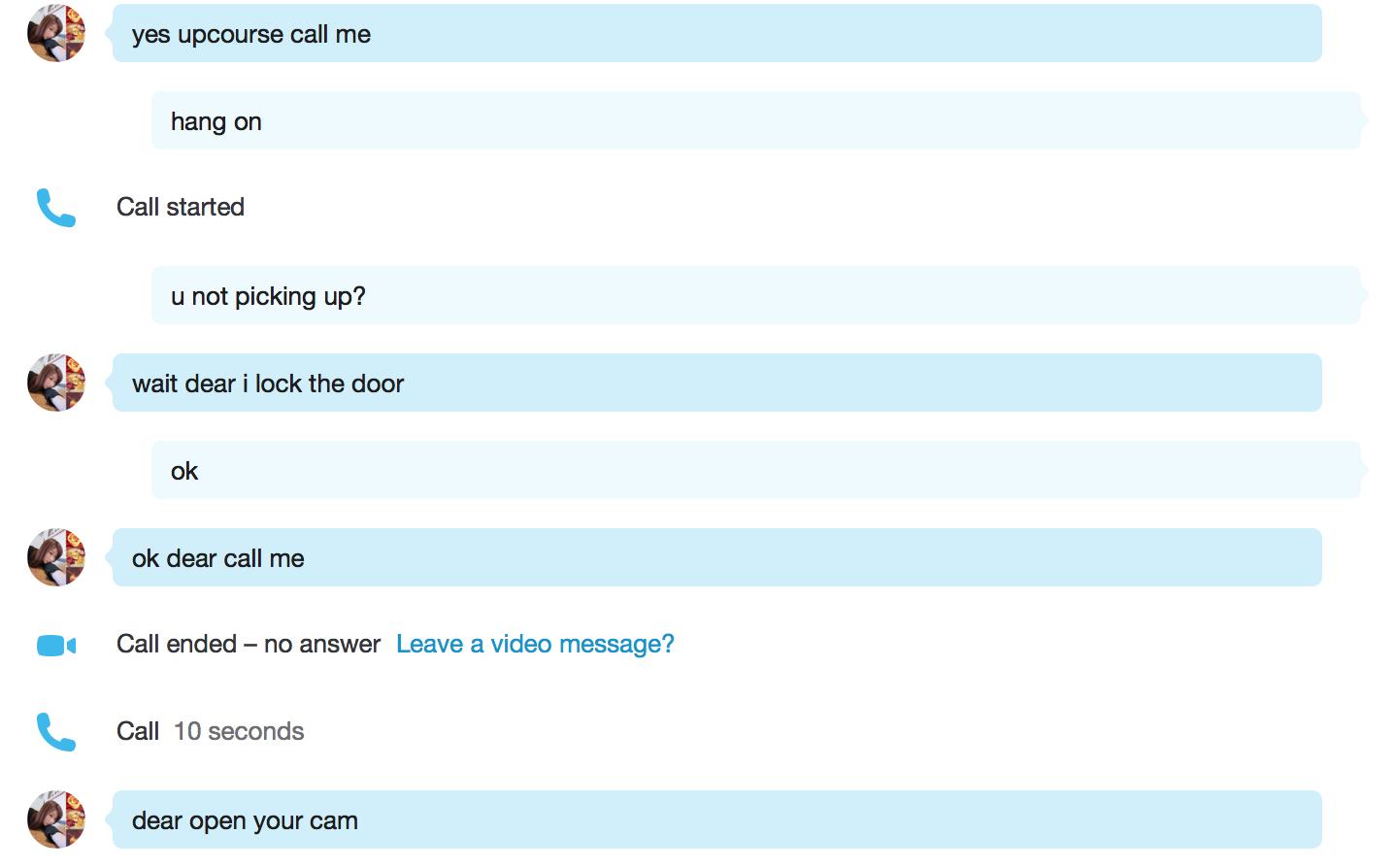 skype cam scam