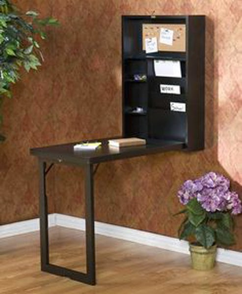 with wall mounted folding table shelf with memo board you can save space when the table not being used and of course will greatly help smoothing messy