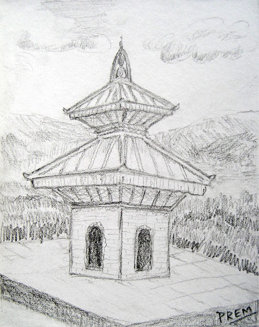 Sketch of a Common Hindu Temple