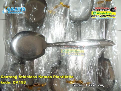 Centong Stainless Kemas Plastiktile murah