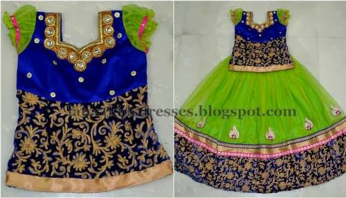 Attractive Parrot Green Lehenga