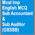 GSSSB Sub Accountant & Sub Auditor Most Im English MCQ Set-11
