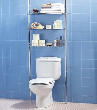 Renovando sua casa banheiro pequeno problema resolvido - Estanteria sobre inodoro ...