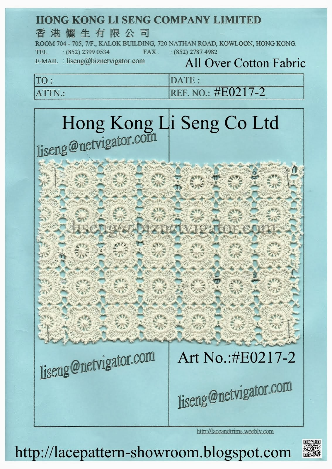 New Pattern All Over Cotton Fabric Manufacturer - Hong Kong Li Seng Co Ltd