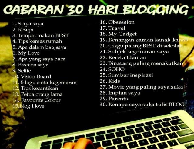 Cabaran Blogger