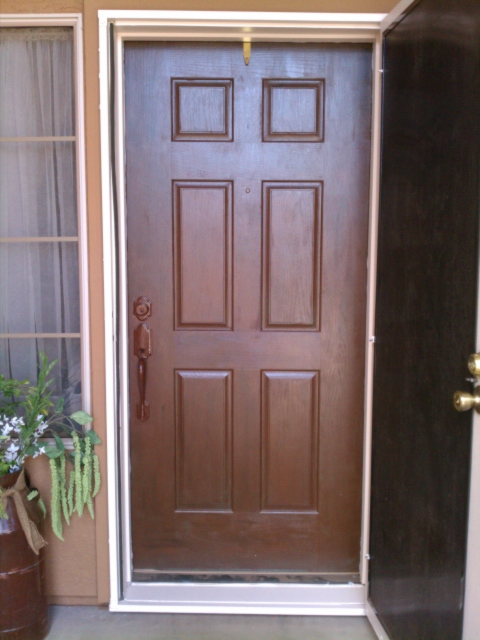 Just add some java front door makeover for Faux wood front doors