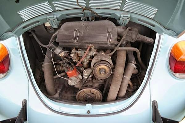 Original 1973 volkswagen beetle with ford face auto restorationice