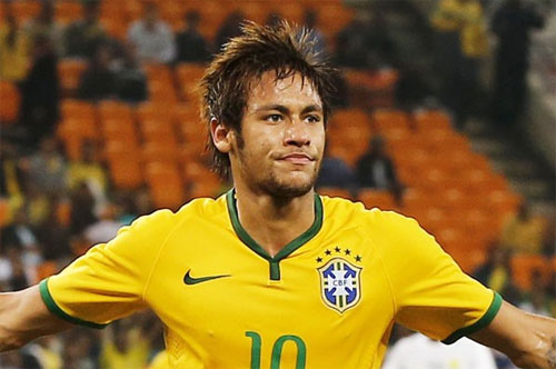 Ekspresi Neymar Setelah Memasukkan Gol di Gawang Kroasia