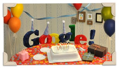 Google's 13th Birthday. Crisfusterber