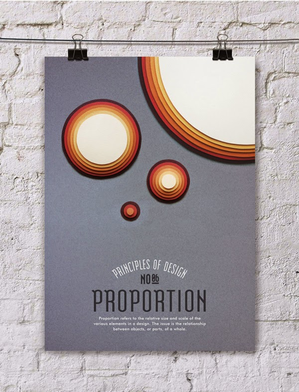 Posters about the principles of design