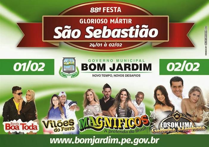 BOM JARDIM  88ª FESTA DE SÃO SEBASTIÃO