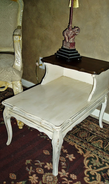 Faux Painting + Furniture: Vintage French Country Cream Aged .