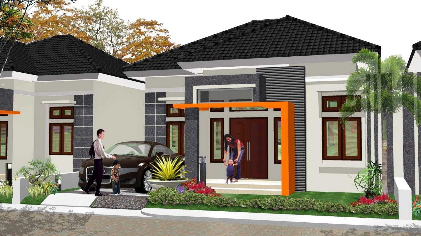 50 desain tampak depan rumah minimalis 1 lantai modern