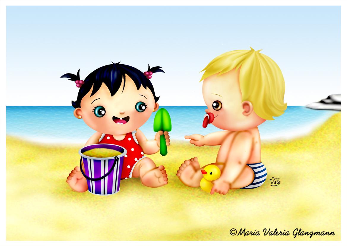 Mar a valeria glanzmann ilustraciones digitales - Dibujos infantiles de bebes ...
