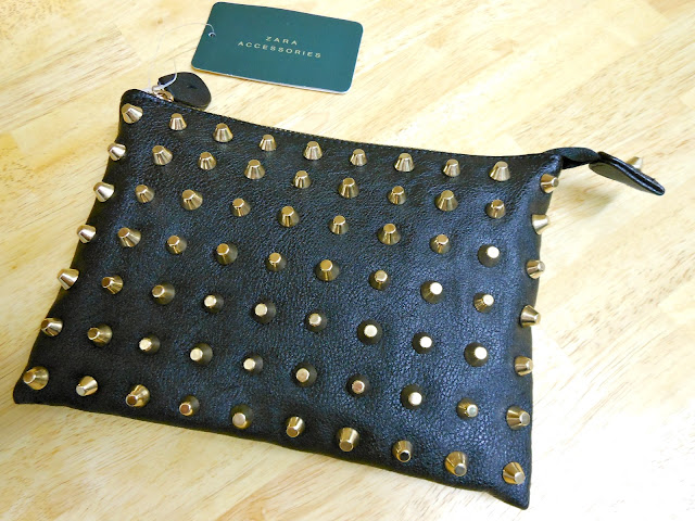 Studded Zara Clutch Bag Fashion