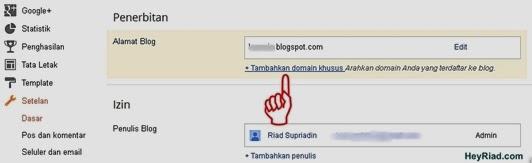 Tambahkan Domain Khusus