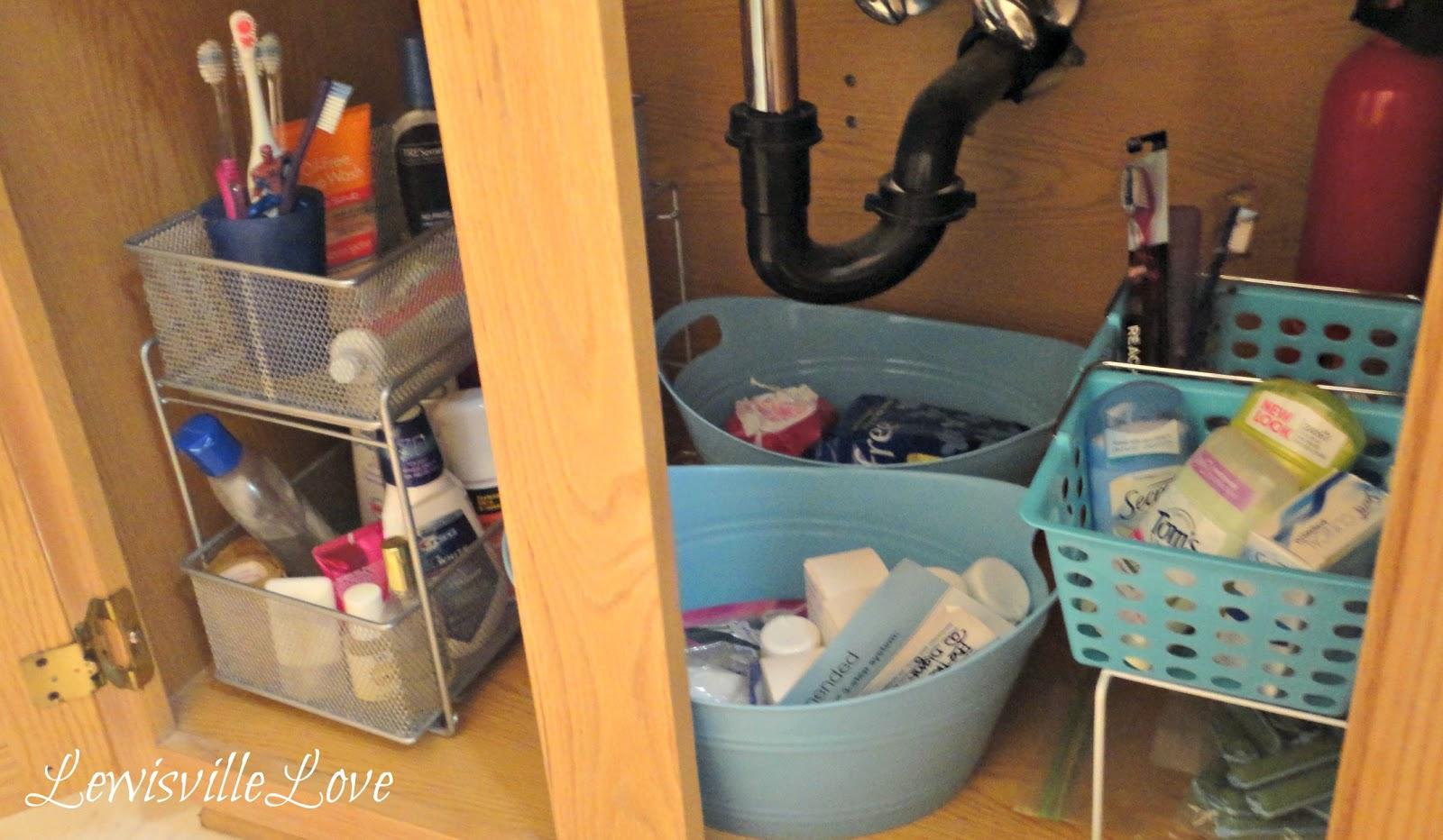 Lewisville Love Organizing Under The Bathroom Sink