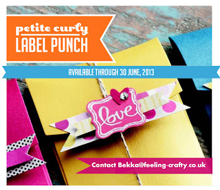 Buy the Stampin' Up! Petite Curly Label Punch from Independent Demonstrator Bekka Prideaux