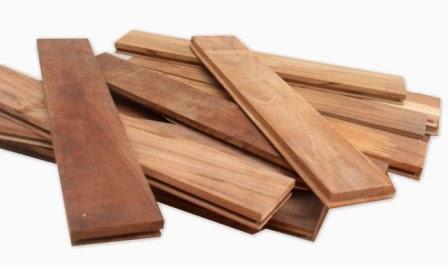 konstruksi lantai kayu dari bahan kayu jati