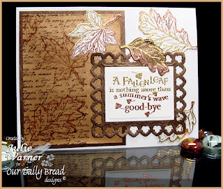 Stamps - Our Daily Bread Designs Autumn Blessings, Randi's Song, ODBD Custom Fall Leaves and Acorn Die