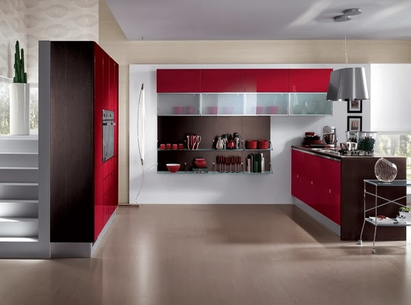 Modern Kitchen Design Color Red Home Inspirations