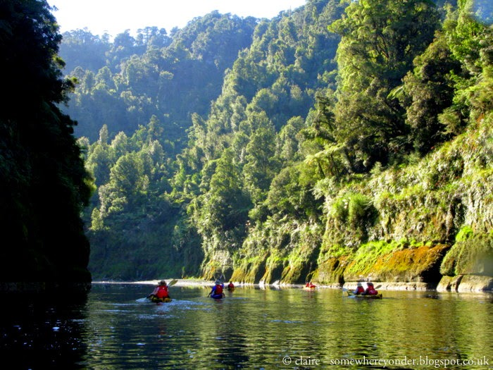 Kayaking down the Whanganui River, New Zealand