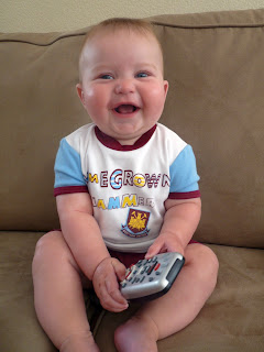 Freddie in his West Ham outfit