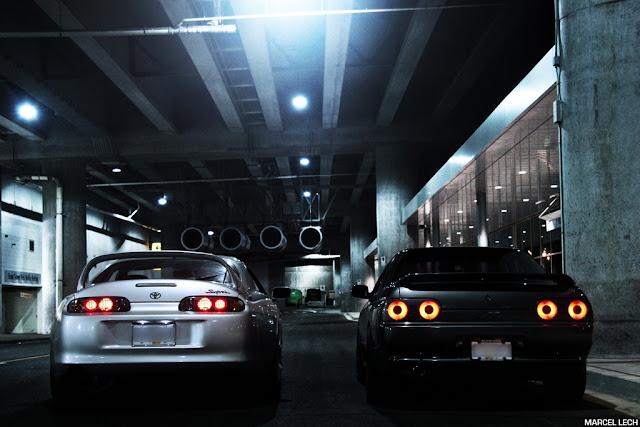 Toyota Supra MK4 & Nissan Skyline R32, kultowe, piękne, japoński sportowy samochód, coupe, godzilla, JZA80, RB26DETT, 2JZ-GTE