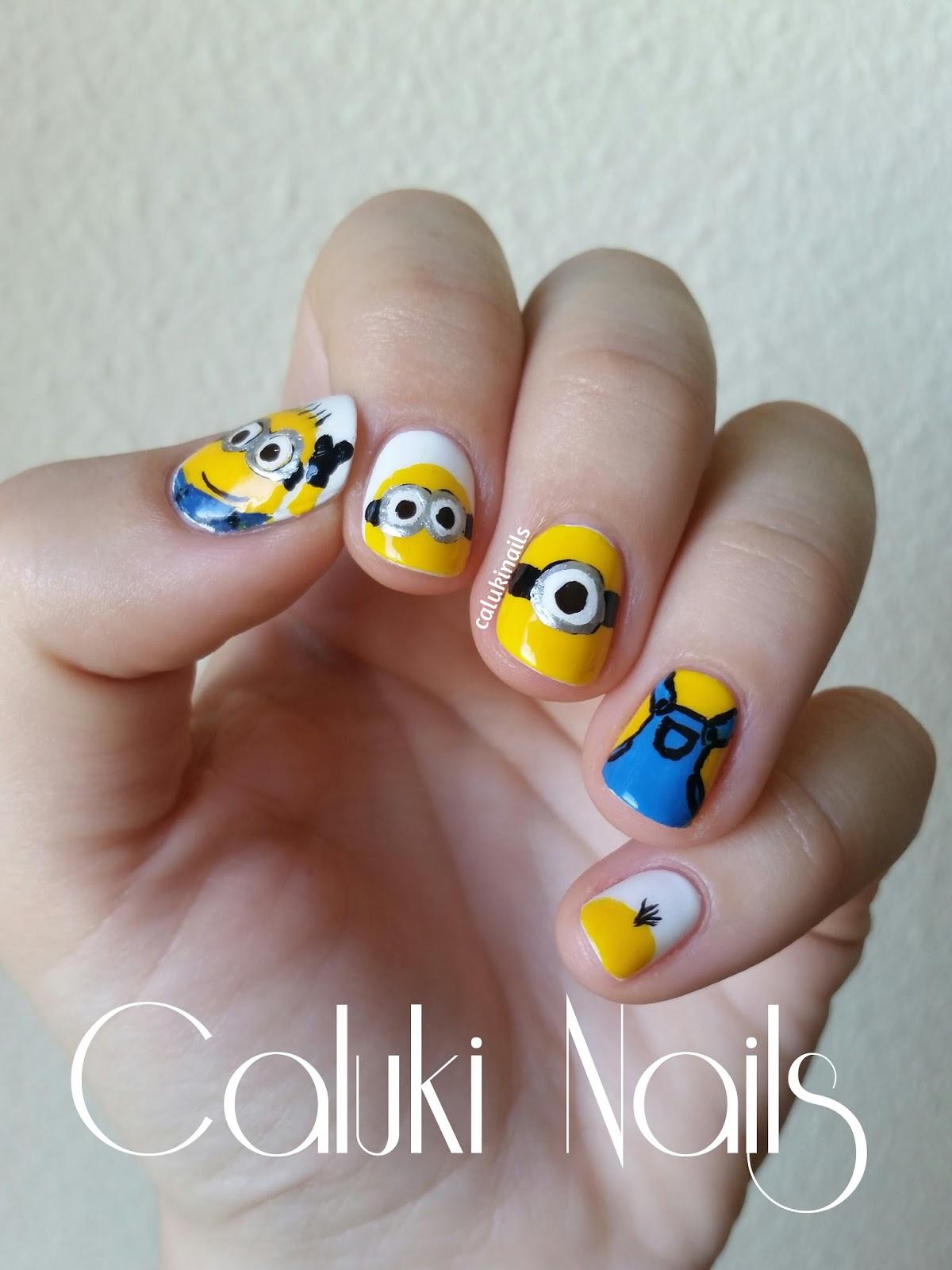 Caluki Nails : Nail art Minions con Manicuras y Belleza