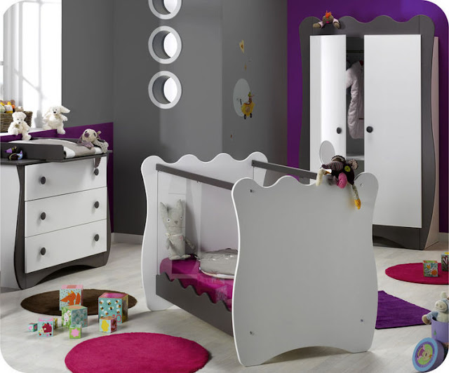 id e d co chambre de b b fille. Black Bedroom Furniture Sets. Home Design Ideas