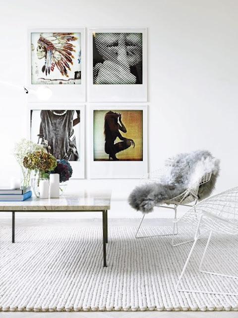 chunky cream natural wool rug