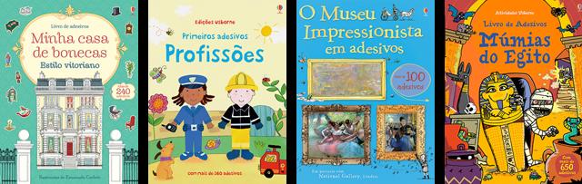 Livros de Adesivos para crianças Editora Usborne
