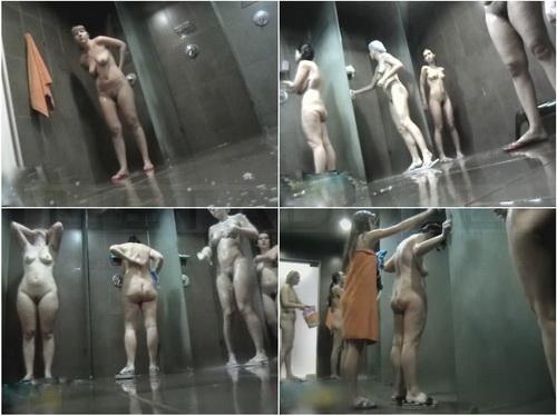 Public pool shower hidden cam with all naked women (Hidden Shower 361-390)